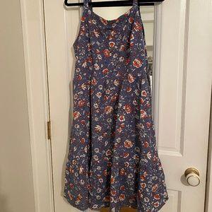 Floral Midi Dress (Old Navy)